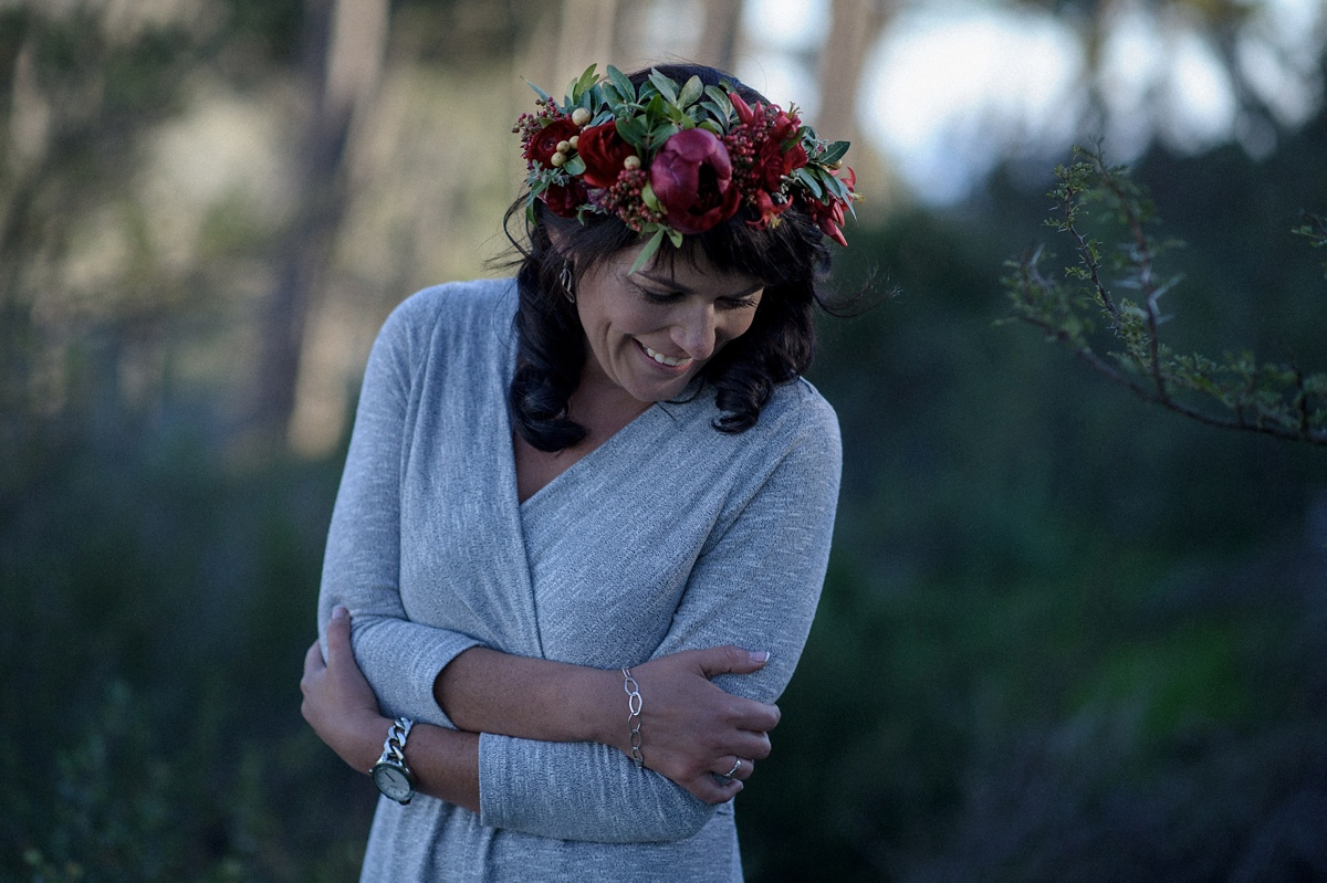 woman with flower crown